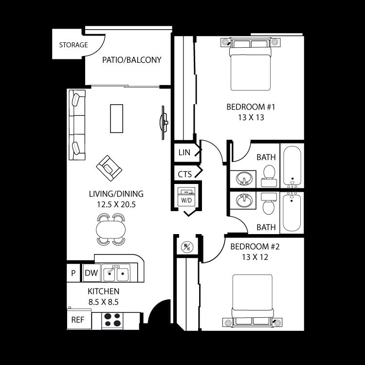 Floor plan image of San Marcos