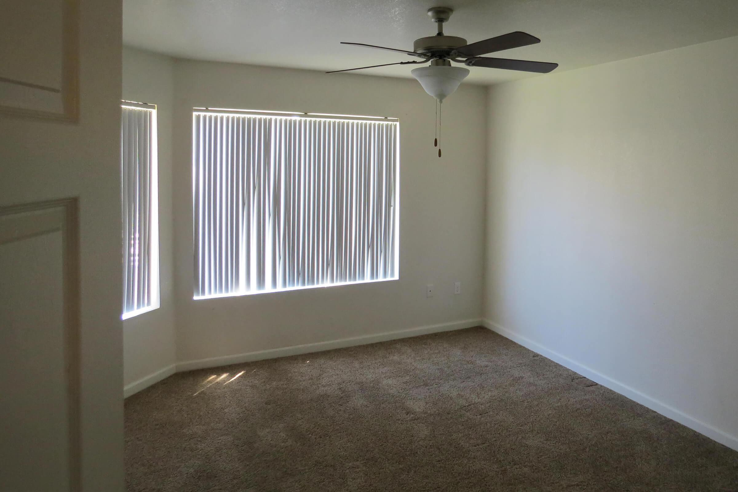 a room with a large window