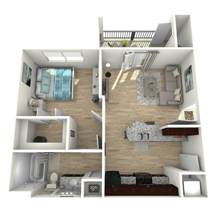 E1 floor plan image