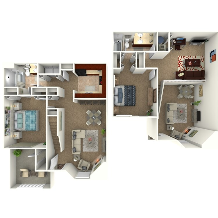 Floor plan image of The Keystone Townhome