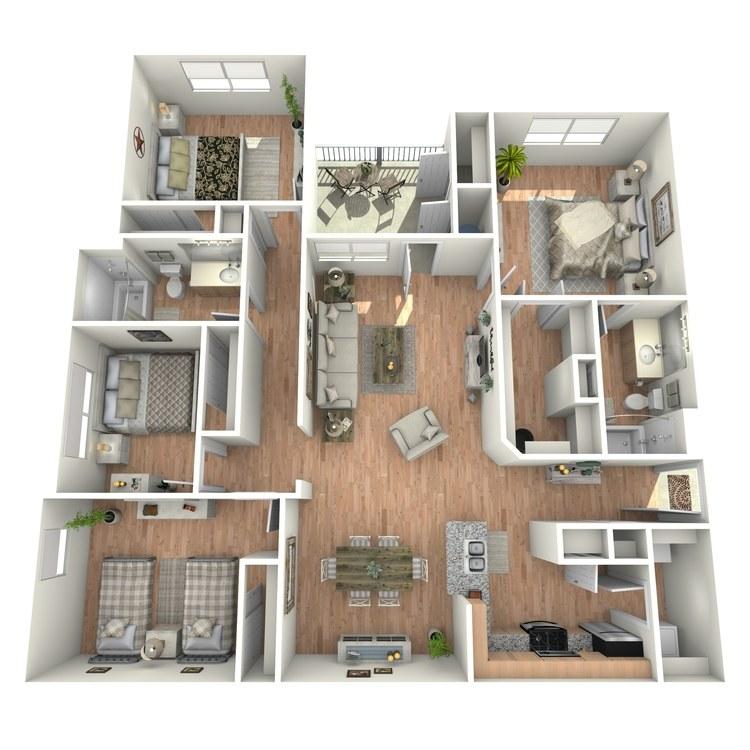Floor plan image of Nueces