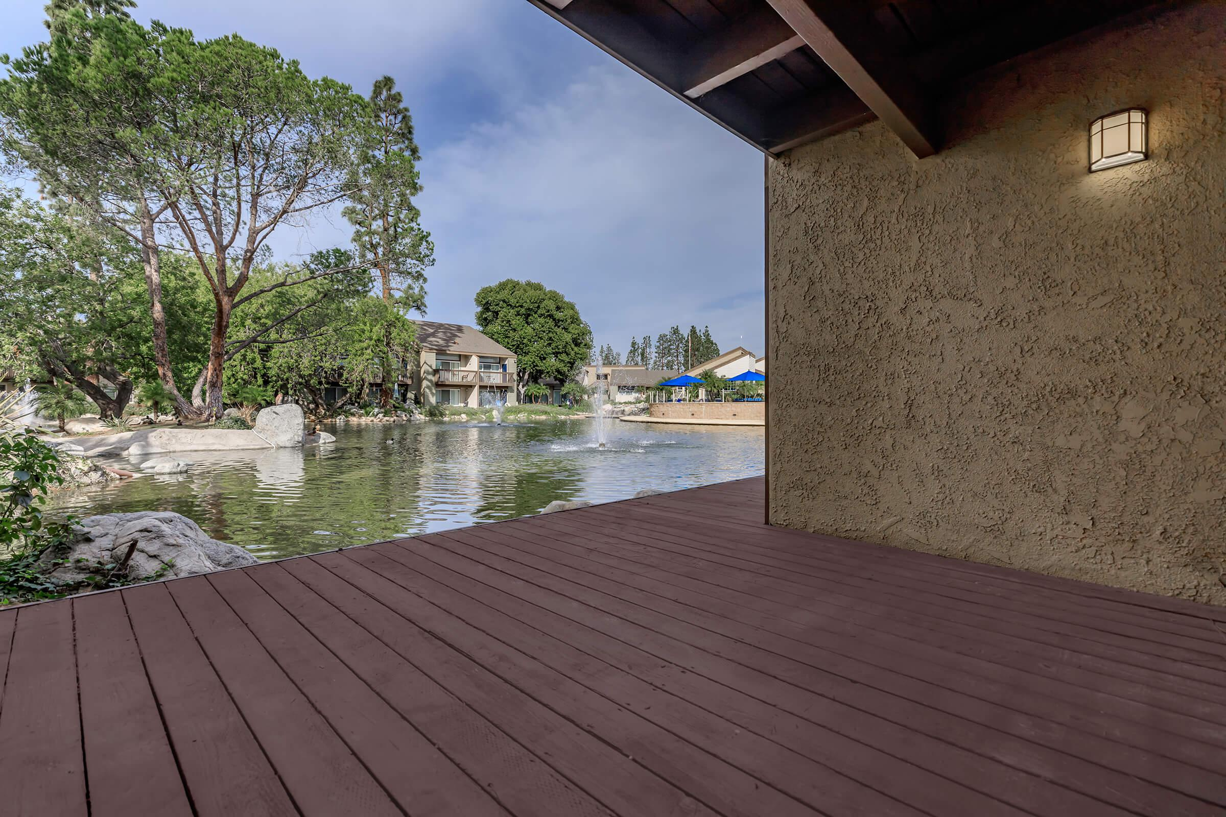 Patio at The Lake in Fullerton, CA