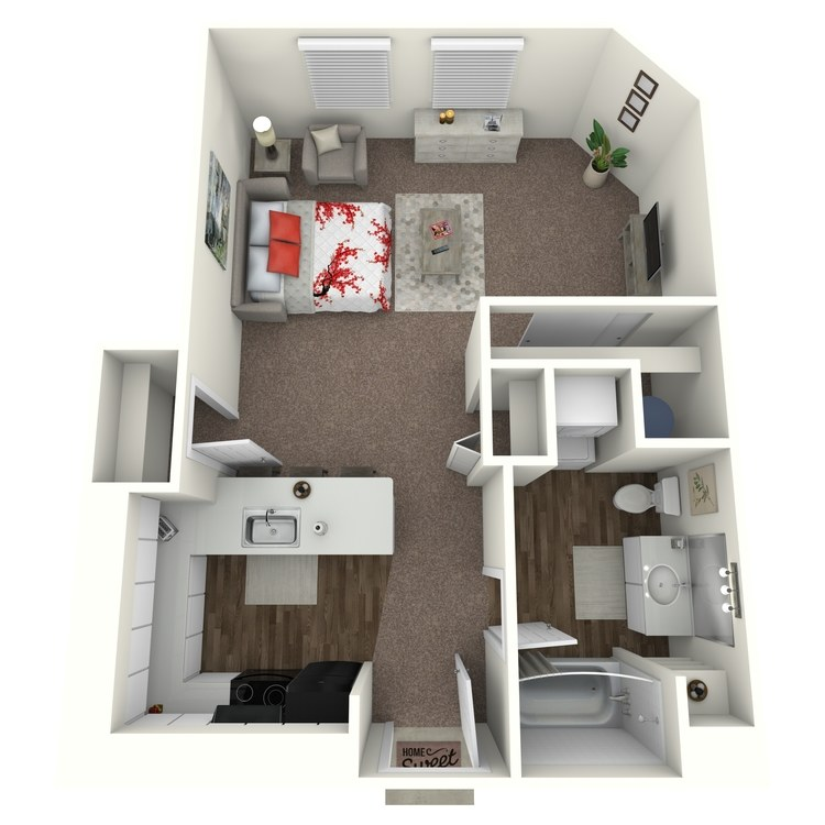Floor plan image of Studio F