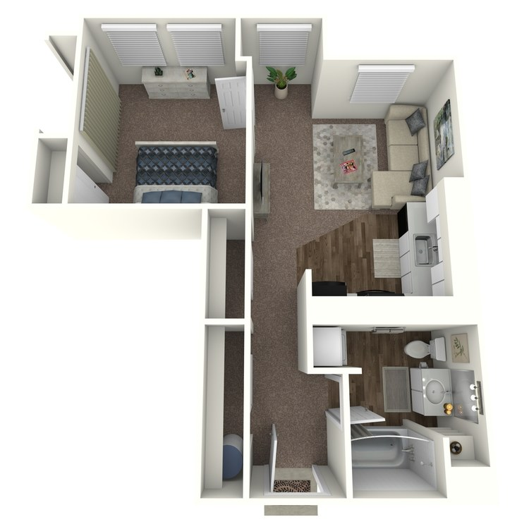Floor plan image of 1 Bedroom A