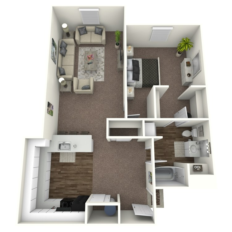 Floor plan image of 1 Bedroom D (2)