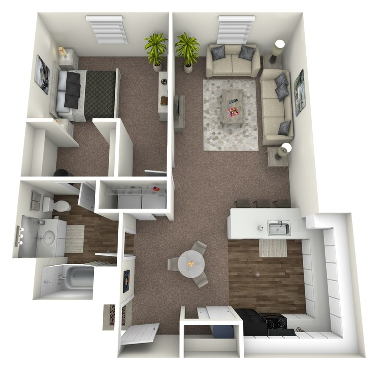 Floor plan image of 1 Bedroom D