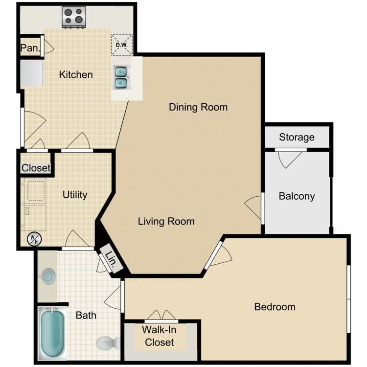 Floor plan image of The Hampton