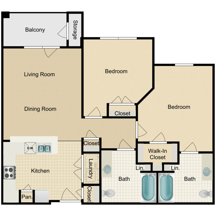 Floor plan image of The Oliver