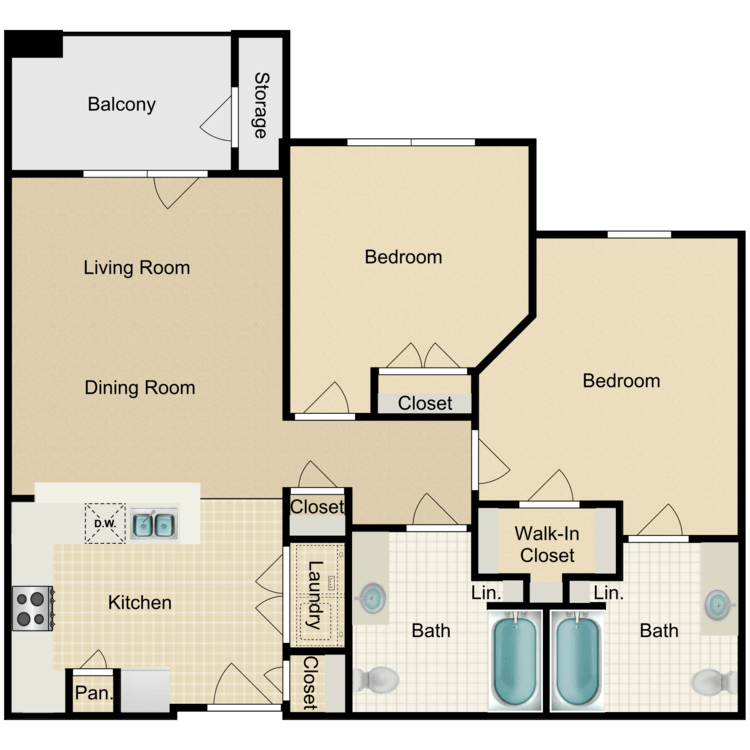Floor plan image of The Howard