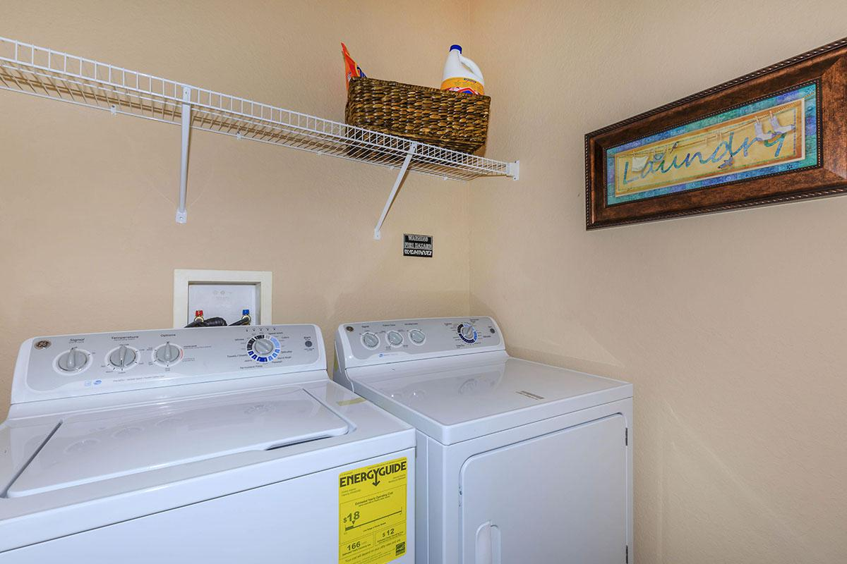 Laundry Room Here At The Club At Hidden River in Tampa, Florida