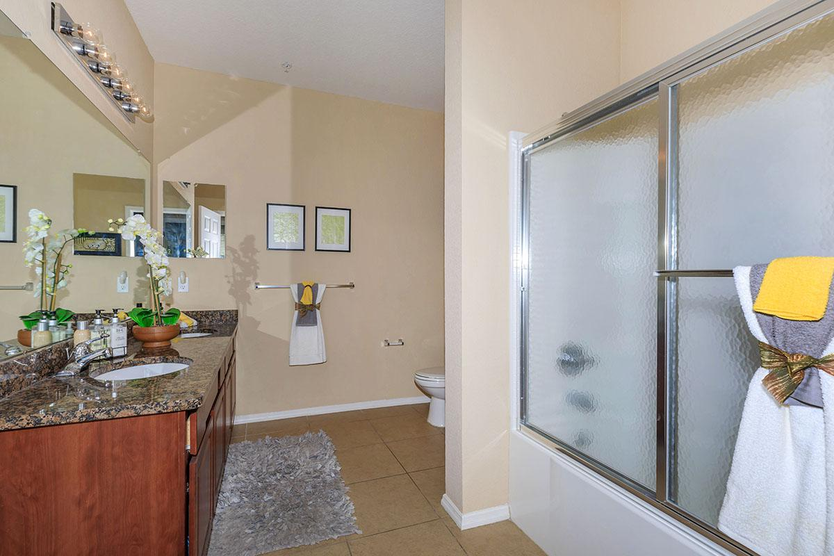 Oleander's Modern Bathroom Here At The Club At Hidden River in Tampa, Florida