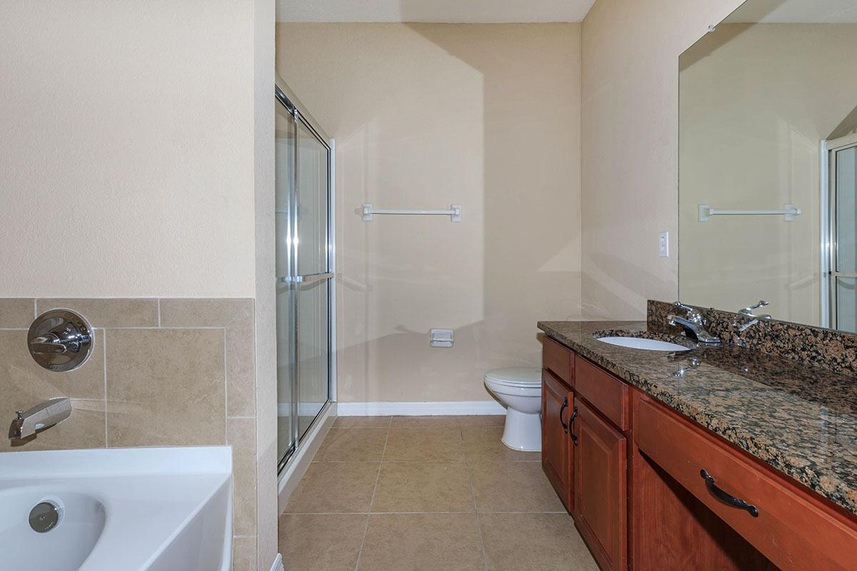 Sycamore's Modern Bathroom Here At The Club At Hidden River in Tampa, Florida