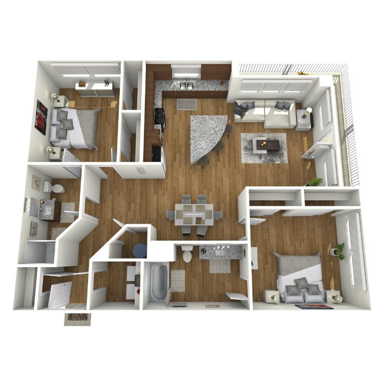 Floor plan image of Warhol