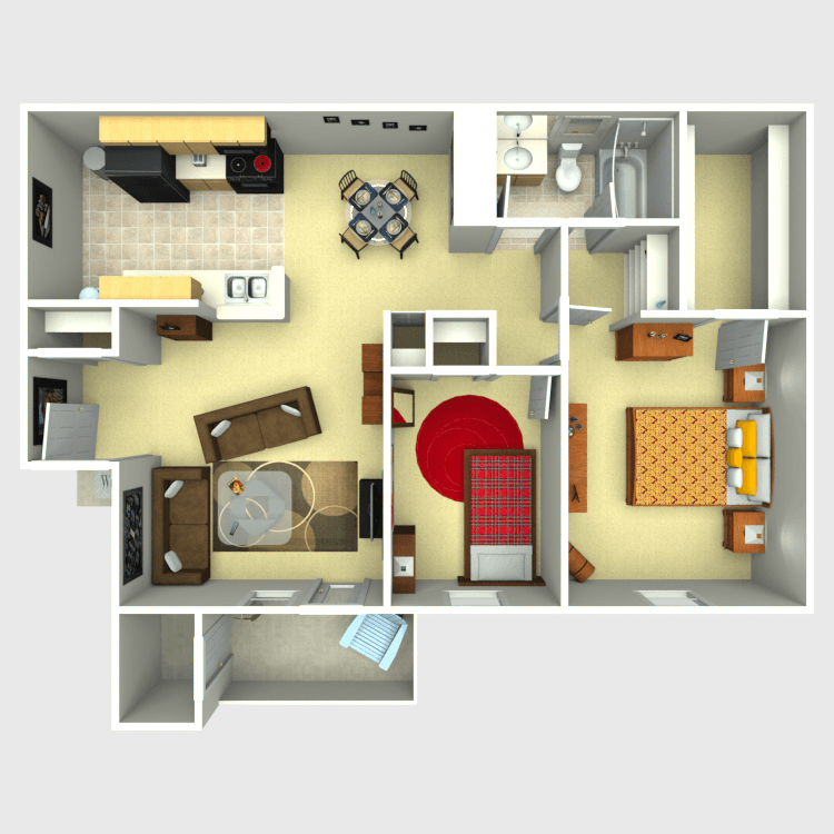 Floor plan image of 2 Bed 1 Bath C