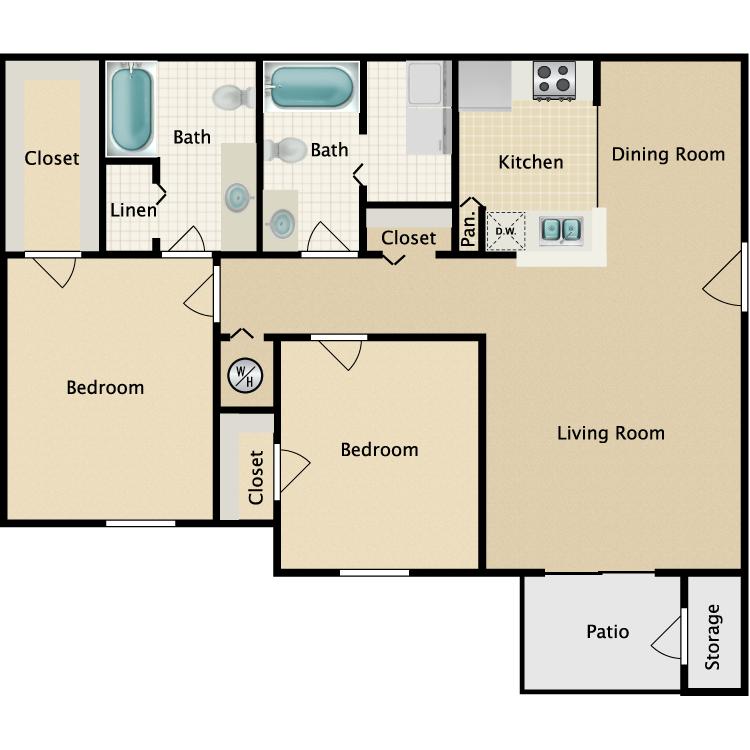 Floor plan image of Peabody