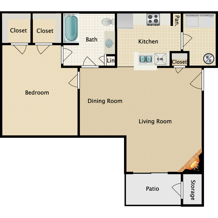 Floor plan image of Waldorf