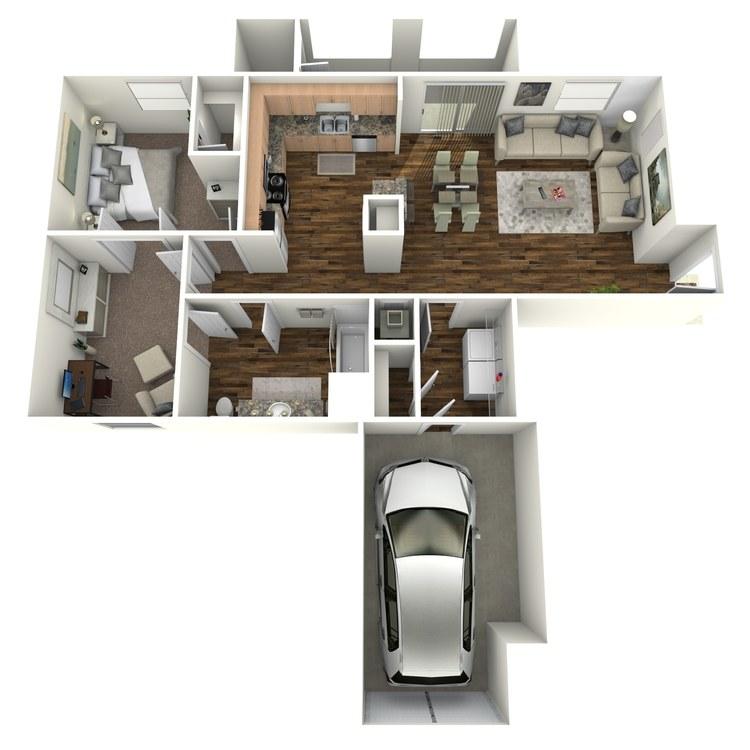 Floor plan image of Viognier + Den