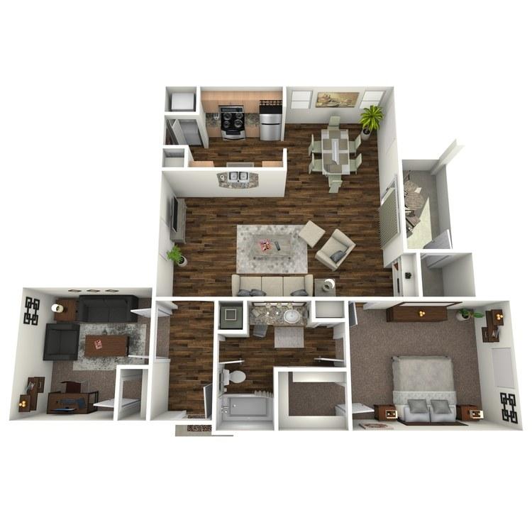 Floor plan image of Chenin Blanc + Den