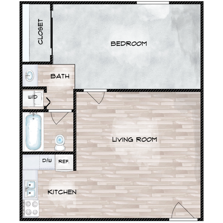 Floor plan image of The Cosmo