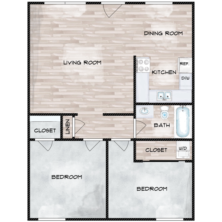 Floor plan image of The Contemporary