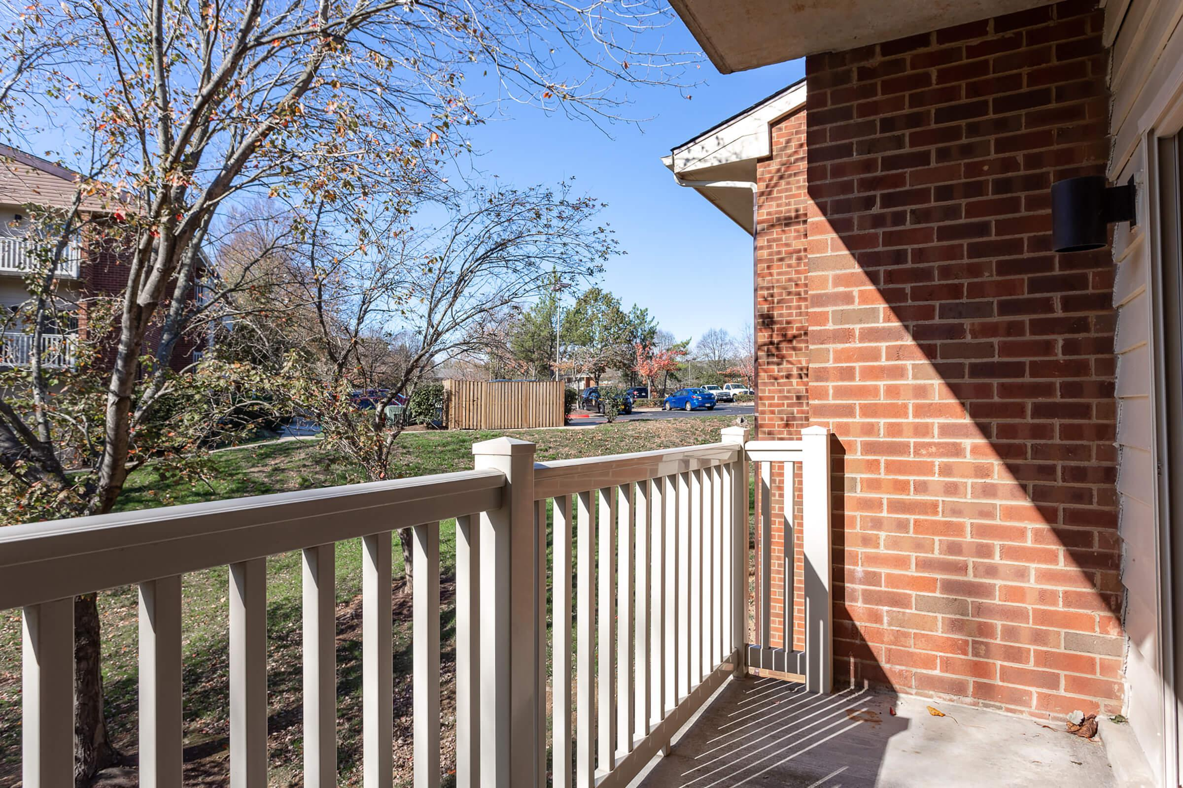 Patio at Huntington Square Apartments in Columbia, MD