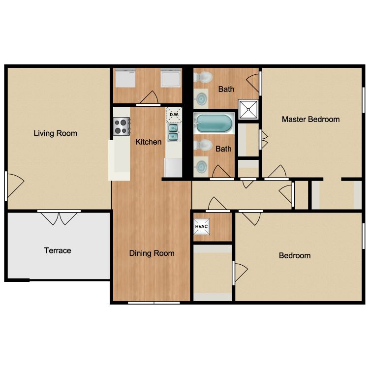 Floor plan image of Sawgrass