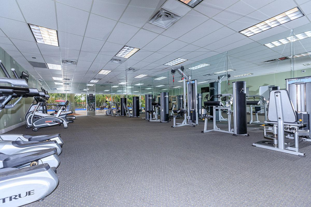 Get fit in the state-of-the-art fitness center at Belaire Tower Apartments Boca Raton, Florida.