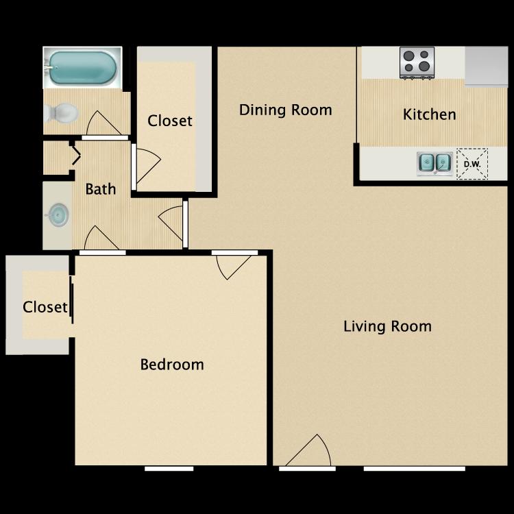 Floor plan image of A Plan