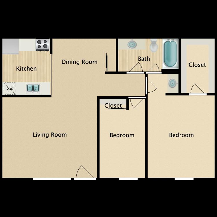 Floor plan image of D Plan