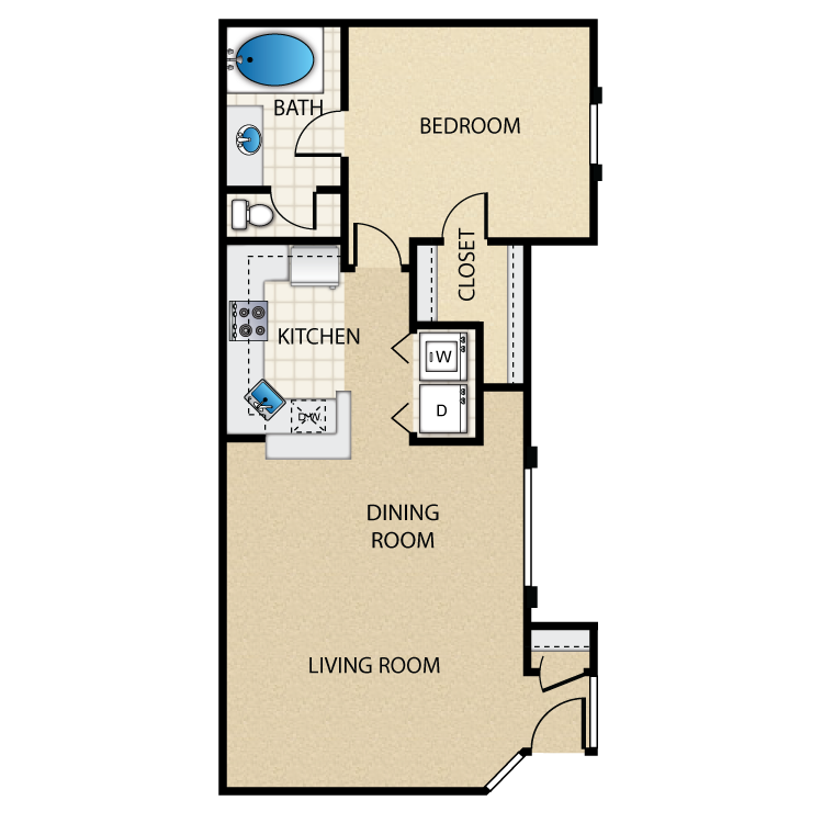Floor plan image of Spinnaker