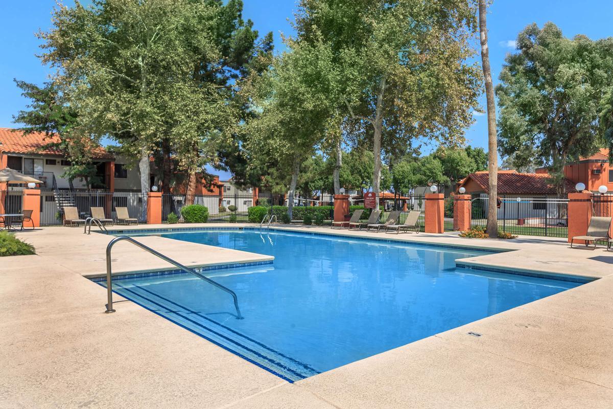 an empty pool