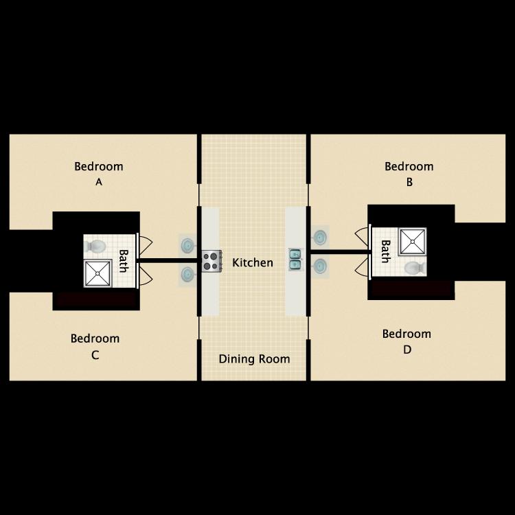 Floor plan image of Shared Bath Studio