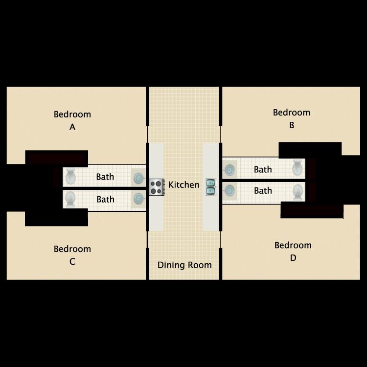 Floor plan image of Private Bath Studio