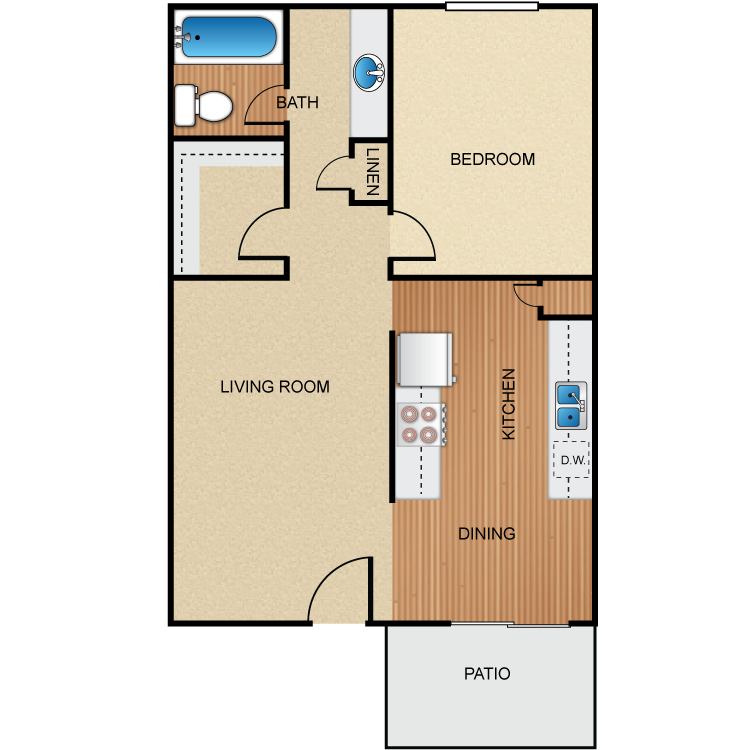 Palm Lane 1 floor plan image
