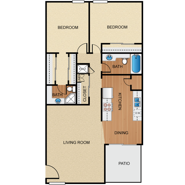Palm Lane 2 floor plan image