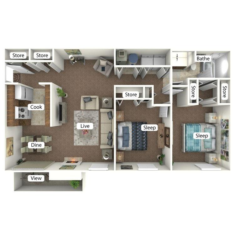 Floor plan image of The Maxinkuckee