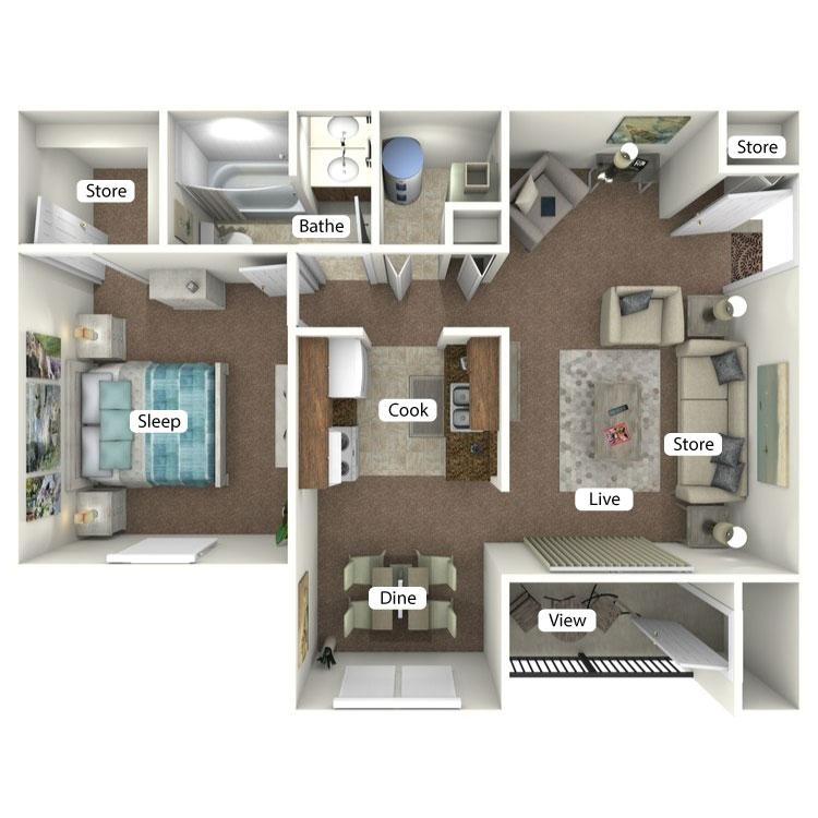 Floor plan image of The Tippecanoe
