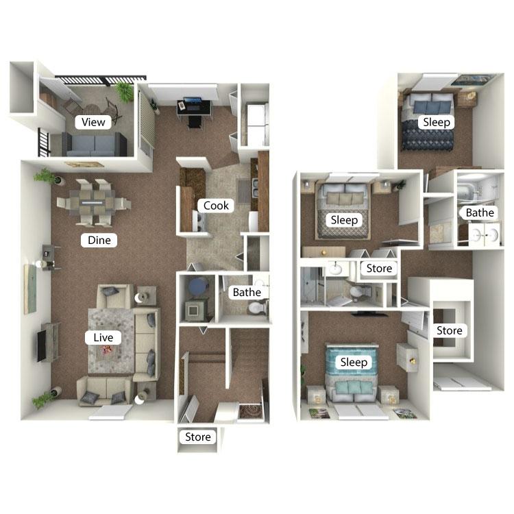 Floor plan image of The Monroe