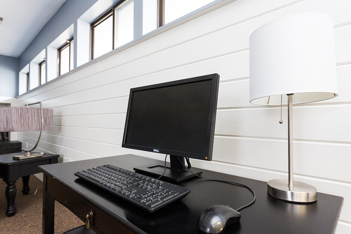 a desktop computer sitting on top of a desk