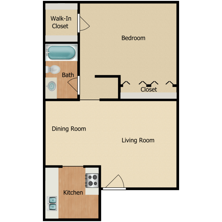 Floor plan image of 1 BR A