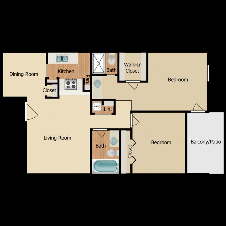 Floor plan image of 2 BR B