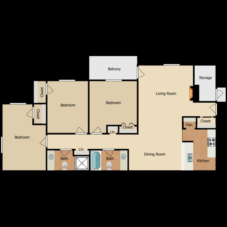Floor plan image of 3 BR C