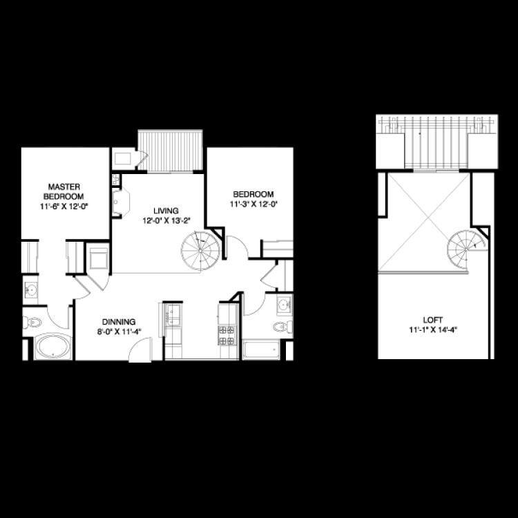 Floor plan image of Toledo AL1