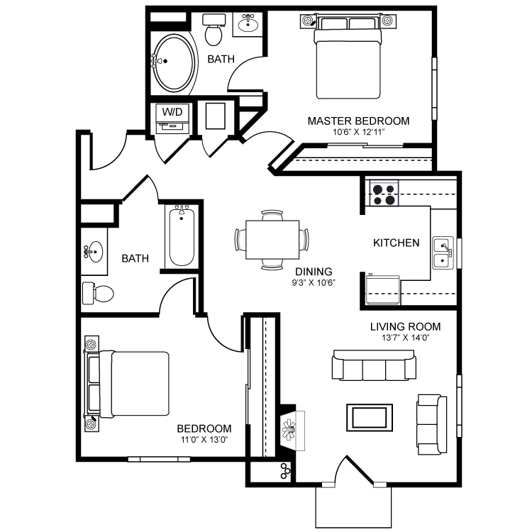 Floor plan image of Malaga B2