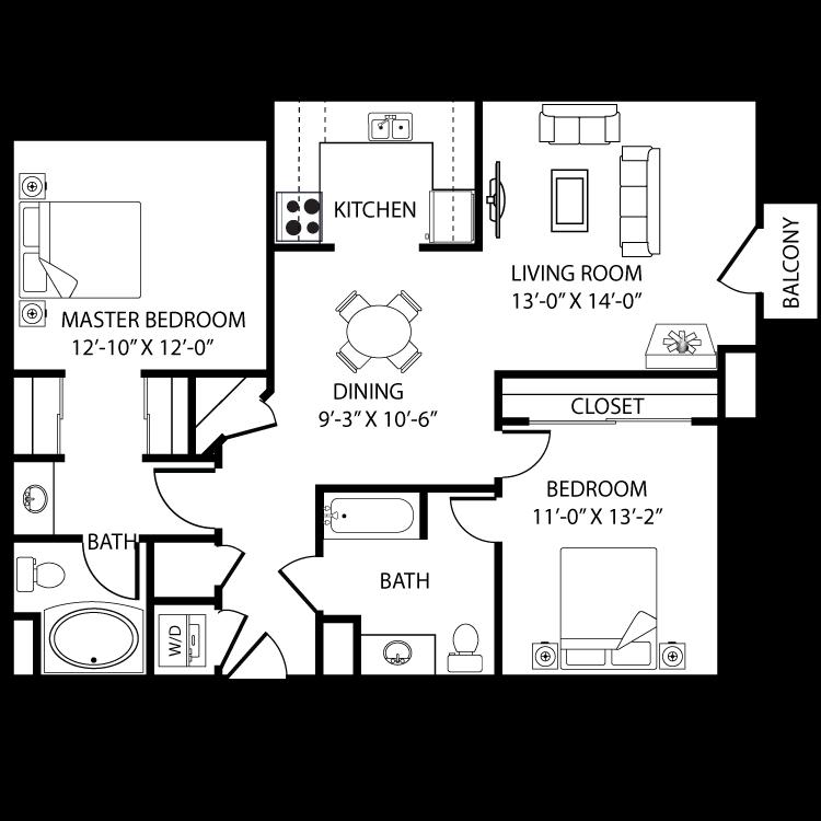 Floor plan image of Malaga B1