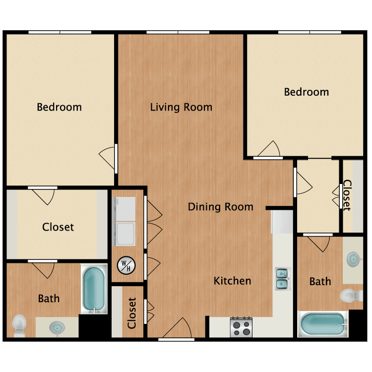 Floor plan image of 22C