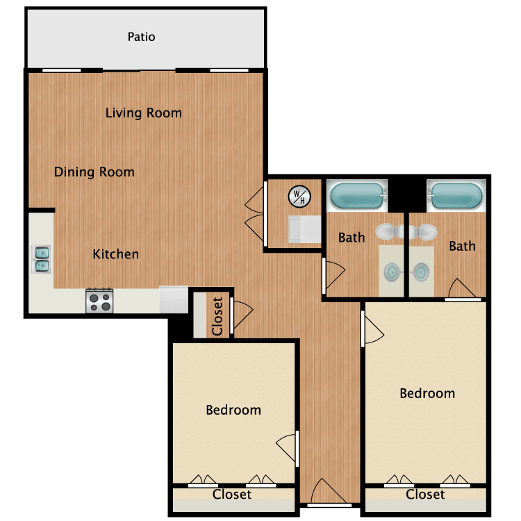 Floor plan image of 22D