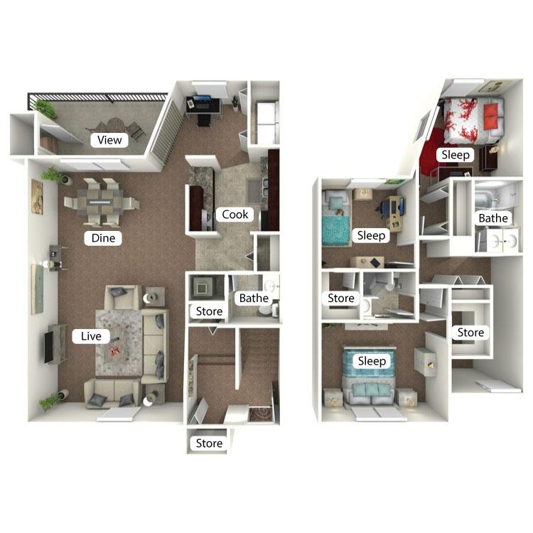 Floor plan image of The Woodsedge
