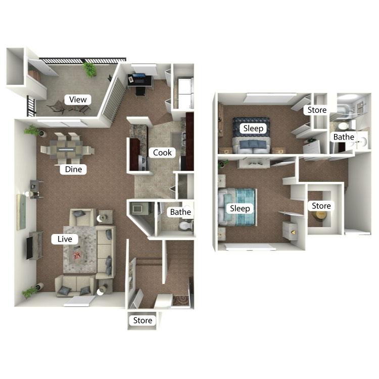 Floor plan image of The Creekside