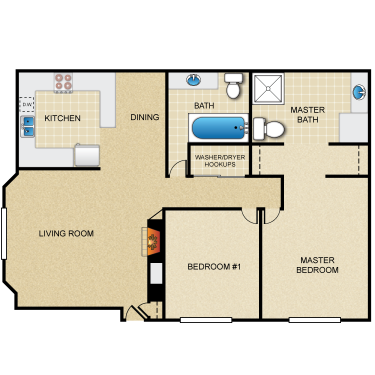 Floor plan image of 2x2-Villas